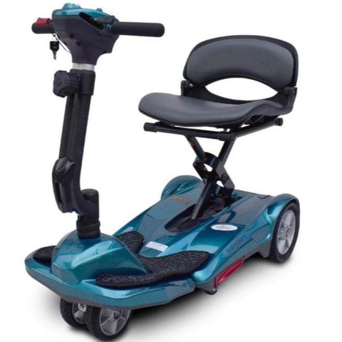 Image of EV Rider Transport M Easy-Folding 4-Wheel Lightweight Mobility Scooter S19M In Blue