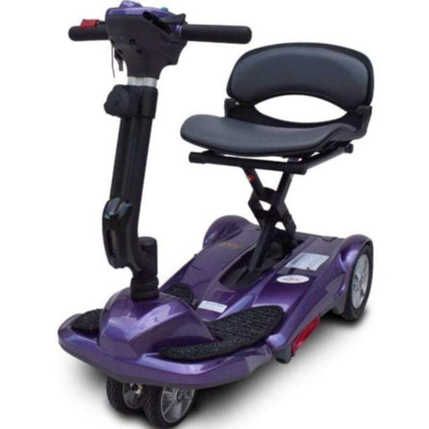 Image of EV Rider Transport M Easy-Folding 4-Wheel Lightweight Mobility Scooter S19M In Plum