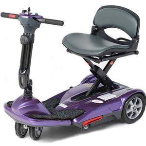 EV Rider Transport M Easy-Folding 4-Wheel Lightweight Mobility Scooter S19M In Plum