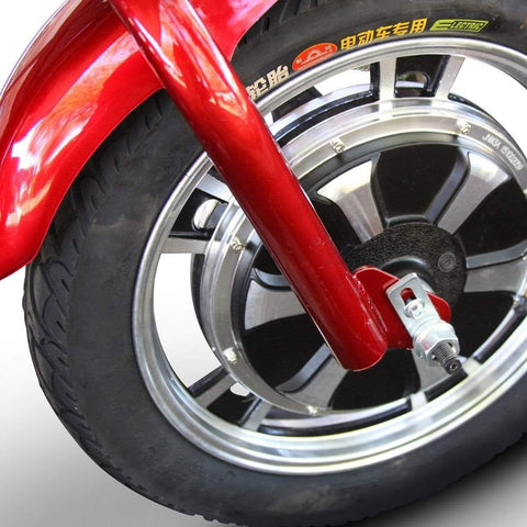 Image of EWheels EW-18 Stand-N-Ride 3 Wheel Mobility Scooter Large Front Tire