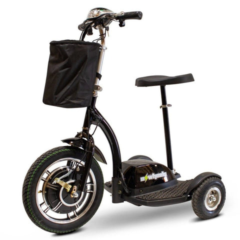 Image of EWheels EW-18 Stand-N-Ride 3 Wheel Mobility Scooter In Black