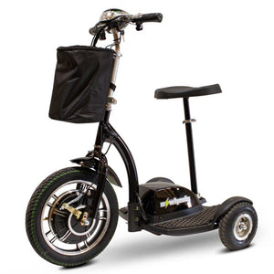EWheels EW-18 Stand-N-Ride 3 Wheel Mobility Scooter In Black