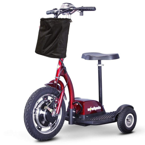 Image of EWheels EW-18 Stand-N-Ride 3 Wheel Mobility Scooter In Red