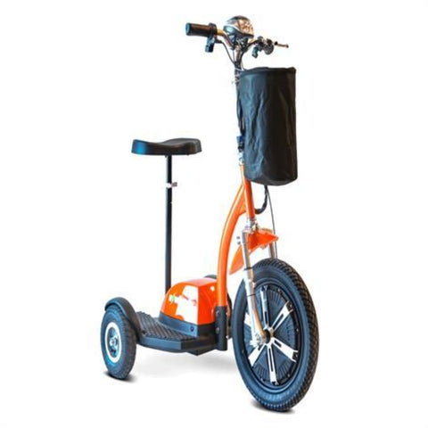 EWheels EW-18 TURBO 3-Wheel Scooter With Seat Post Raised