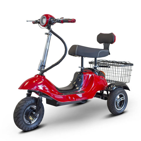 Image of EWheels EW-19 Sporty Mobility Scooter With Large Rubber Tires And Rear Basket