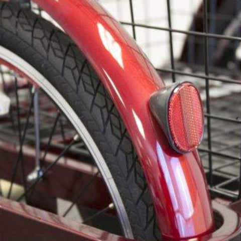 Image of EWheels EW-29 Electric Tricycle for Adults Rear Brake Light Next To Rubber Tire