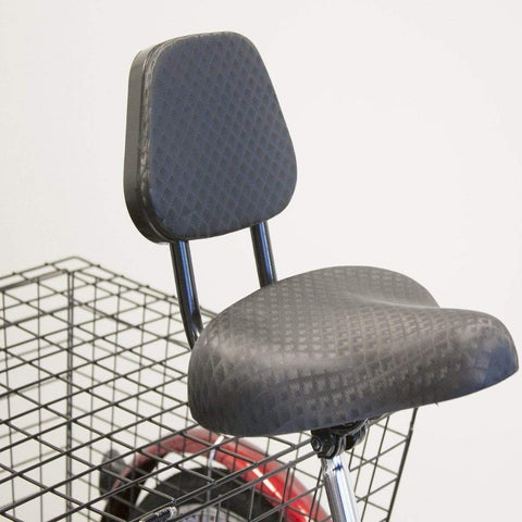 Image of EWheels EW-29 Electric Tricycle for Adults With Bicycle Style Seat And Back Support