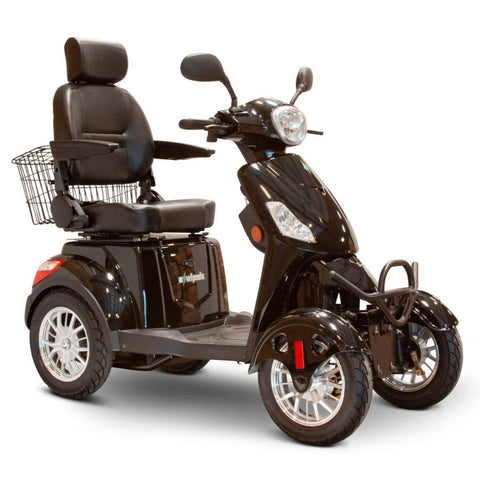 EWheels EW-46 Electric 4-Wheel Mobility Scooter In Black