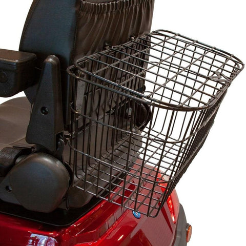 Image of EWheels EW-46 Electric 4-Wheel Mobility Scooter Large Rear Basket Attached To Captain's Seat