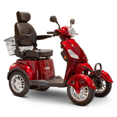Image of EWheels EW-46 Electric 4-Wheel Mobility Scooter In Red