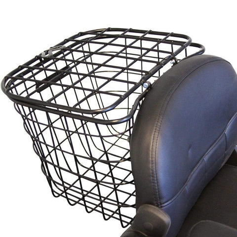 Image of EWheels EW-66 2-Passenger Heavy-Duty Bariatric Scooter Large Rear Basket