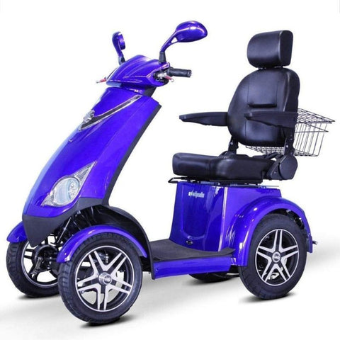 EWheels EW-72 Heavy Duty 4-Wheel Mobility Scooter With Large Rear Basket And Front Lights