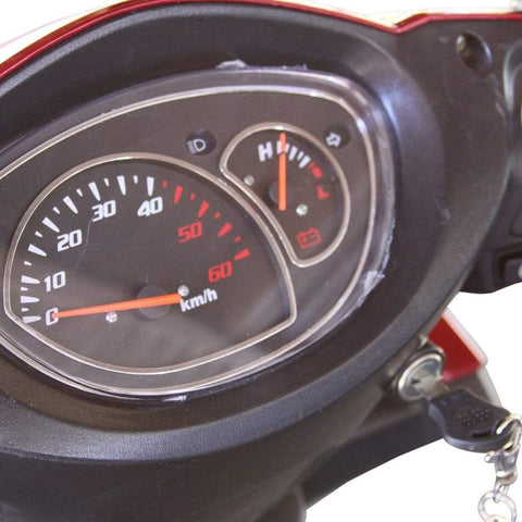 Image of EWheels EW-72 Heavy Duty 4-Wheel Mobility Scooter Speed Indicator, Power Indicator, And Turn Signal Indicators