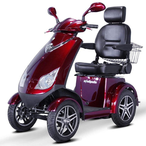 Image of EWheels EW-72 Heavy Duty 4-Wheel Mobility Scooter With Large Comfortable Captain's Seat And Rearview Mirrors