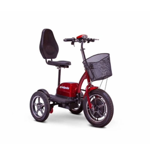 EWheels EW-Big Wheels 3-Wheel Electric Scooter In Red With Large Front Power Wheel