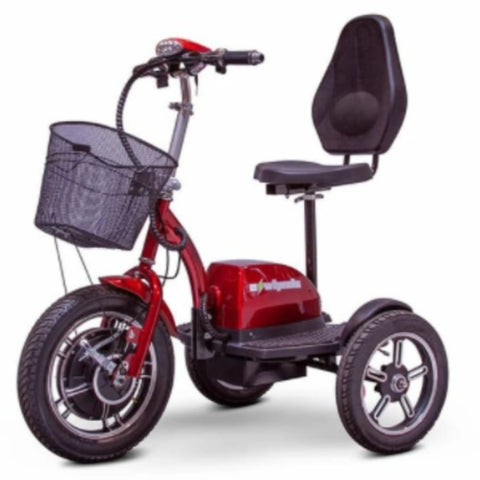 EWheels EW-Big Wheels 3-Wheel Electric Scooter With Large Front Basket And Comfortable Backrest