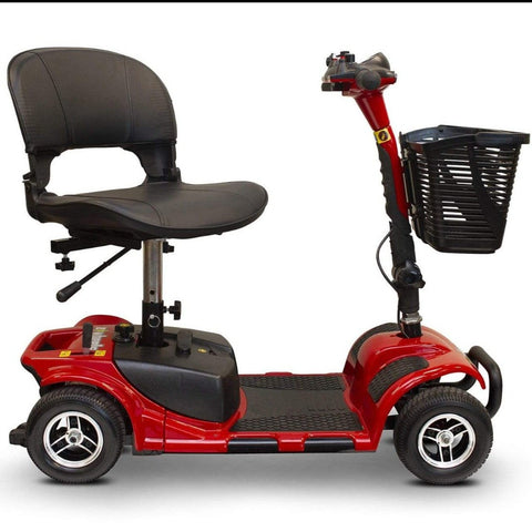Image of EWheels EW-M34 Portable 4 Wheel Travel Mobility Scooter With Seat Rotated Outward For Easy Loading And Unloading