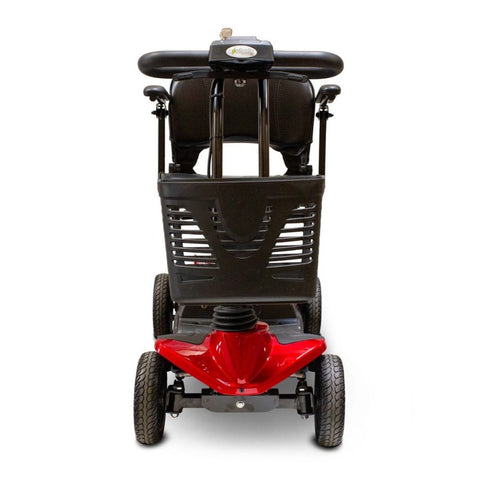 Image of EWheels EW-M35 4-Wheel Travel Mobility Scooter Front Basket Attached To Scooter Tiller