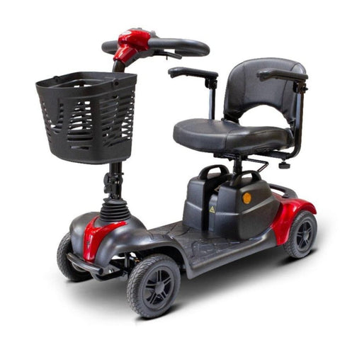 EWheels EW-M39 4 Wheel Portable Mobility Scooter With Large Front Basket And Folding Armrests