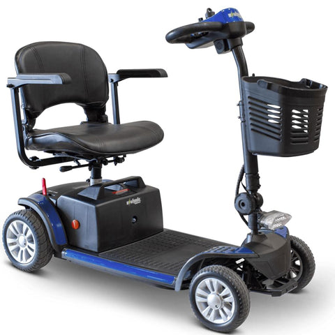 Image of EWheels EW-M50 Extended Range Travel Scooter 4 Wheels In Blue