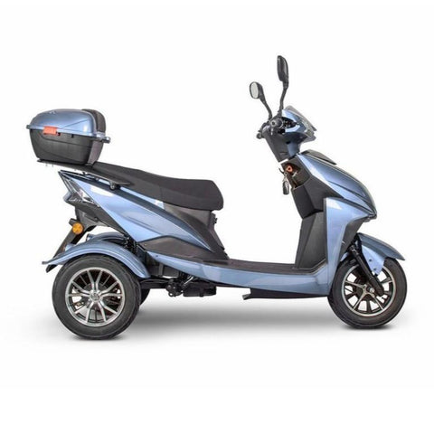 EWheels EW-10 Sport 3-Wheel Scooter In Blue With Key In Igntion