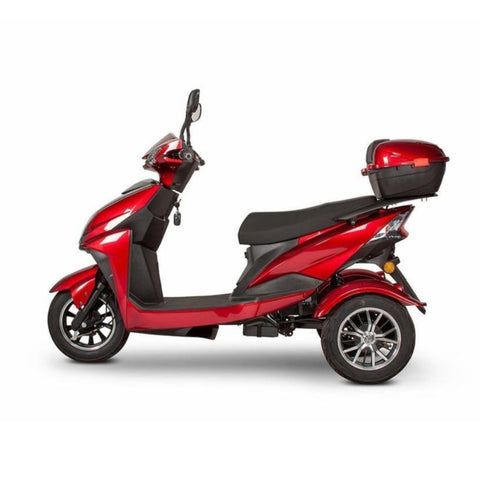 EWheels EW-10 Sport 3-Wheel Scooter In Red With Key In Igntion