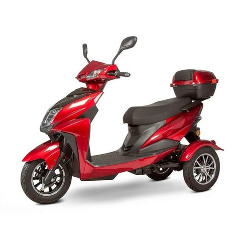 EWheels EW-10 Sport 3-Wheel Scooter With Rear View Mirrors And Large Rear Storage Compartment