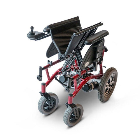 Image of EWheels EW-M47 Folding Power Wheelchair Folded To Fit In Car Or Airplane