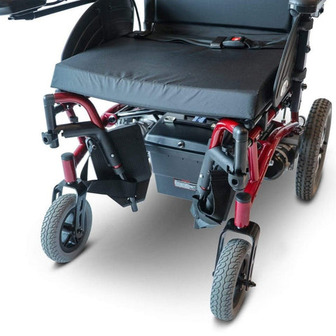 Image of EWheels EW-M47 Folding Power Wheelchair With Footrests Folded Inward