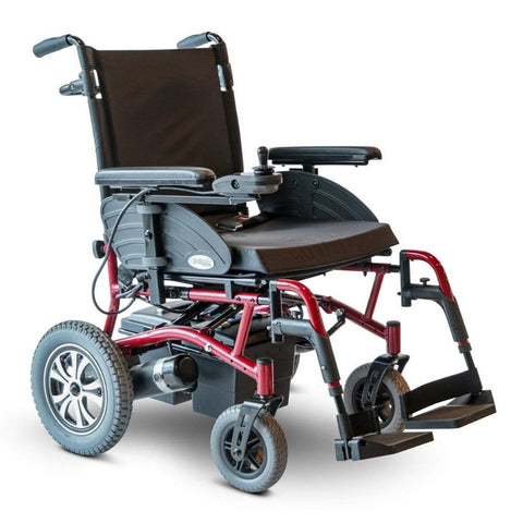 Image of EWheels EW-M47 Folding Power Wheelchair With Footrests Extended