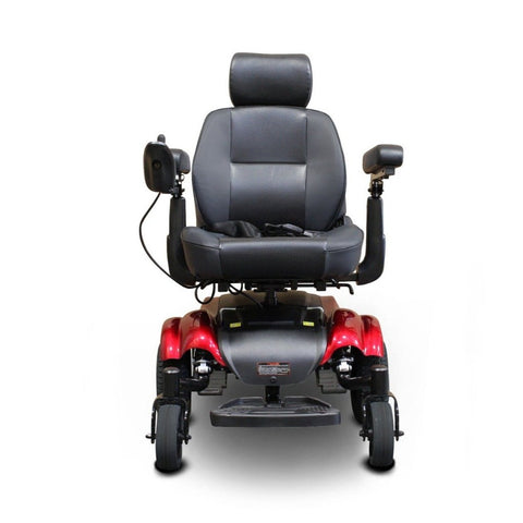 EWheels EW-M48 Power Wheelchair Front View With Seat Belt On Seat