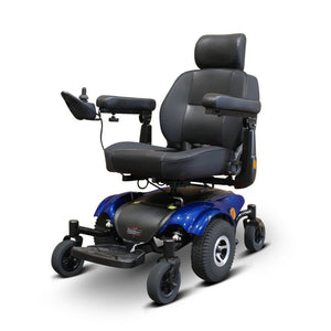 EWheels EW-M48 Power Wheelchair With Front And Rear Support Tire Brackets