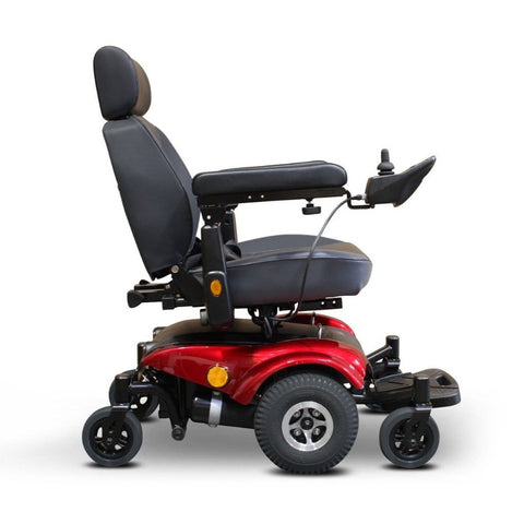 Image of EWheels EW-M48 Power Wheelchair Right Side View In Red