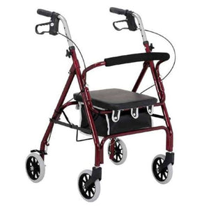 Merits Health Dorado 4-Wheel Lightweight Rollator With Comfortable Seat Cushion and Hand Brakes