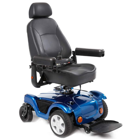 Image of Merits Health Dualer Powerchair P312 With Comfortable Captain's Seat Rotated To Rear
