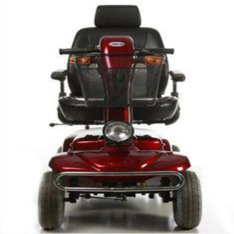 Image of Merits Health Pioneer 10 S341 DLX Bariatric 4-Wheel Mobility Scooter Front Bumper, Front Basket, And Front Light And Turn Signals