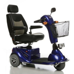 Merits Health Pioneer 3 S131 3-Wheel Electric Mobility Scooter Right Side View Of Turn Signals And Front Basket