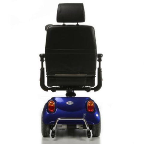 Merits Health Pioneer 3 S131 3-Wheel Electric Mobility Scooter Rear View Of Brake Lights And Anti-Tip Wheels