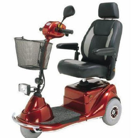 Merits Health Pioneer 3 S131 3-Wheel Electric Mobility Scooter With Thick Cushioned Captain's Seat