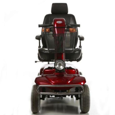 Image of Merits Health Red Pioneer 4 S141 4-Wheel Mobility Scooter With Front Light And Front Bumper Guard