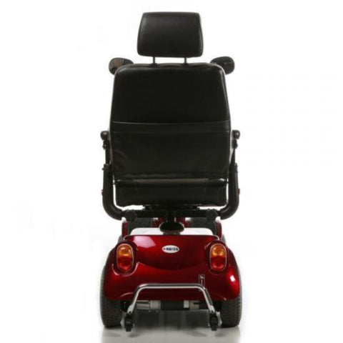 Image of Merits Health Red Pioneer 4 S141 4-Wheel Mobility Scooter Rear Brake Lights And Anti-Tip Wheels