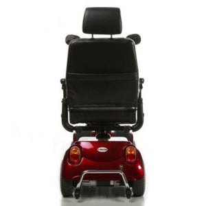Merits Health Red Pioneer 4 S141 4-Wheel Mobility Scooter Rear Brake Lights And Anti-Tip Wheels