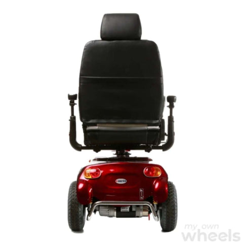 Merits Health Pioneer 9 S331 DLX Bariatric 3-Wheel Mobility Scooter Rear View Of Brake Lights And Large Captain's Seat