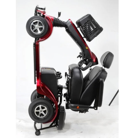 Image of Merits Health Pioneer Fleet 4 S746 Heavy Duty Mobility Scooter Folder For Transport Sitting On Rear Safety Wheels