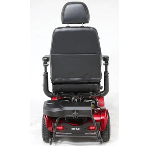 Merits Health Pioneer Fleet 4 S746 Heavy Duty Mobility Scooter Rear View of Brake Lights and Thick Headrest Attached