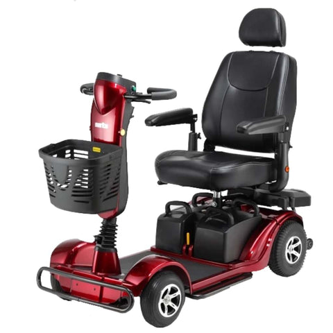 Image of Merits Health Pioneer Fleet 4 S746 Heavy Duty Mobility Scooter With Comfortable Captain's Seat and Front Basket