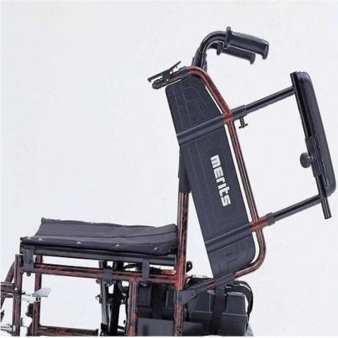 Image of Merits Health Travel-Ease Folding Power Chair P101 With Armrest Folded Up For Easy Rider Access When Entering Or Exiting Power Chair