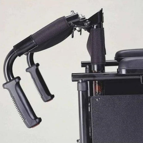 Image of Merits Health Travel-Ease Folding Power Chair P101 With Attendant Handles Folded Down