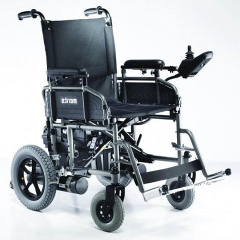 Image of Merits Health Travel-Ease Folding Power Chair P101 With Joystick Mounted On Left Armrest