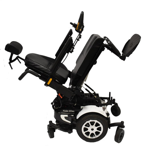 Image of Merits Health Vision Ultra P325 Tilt Power Chair In Tilted Position